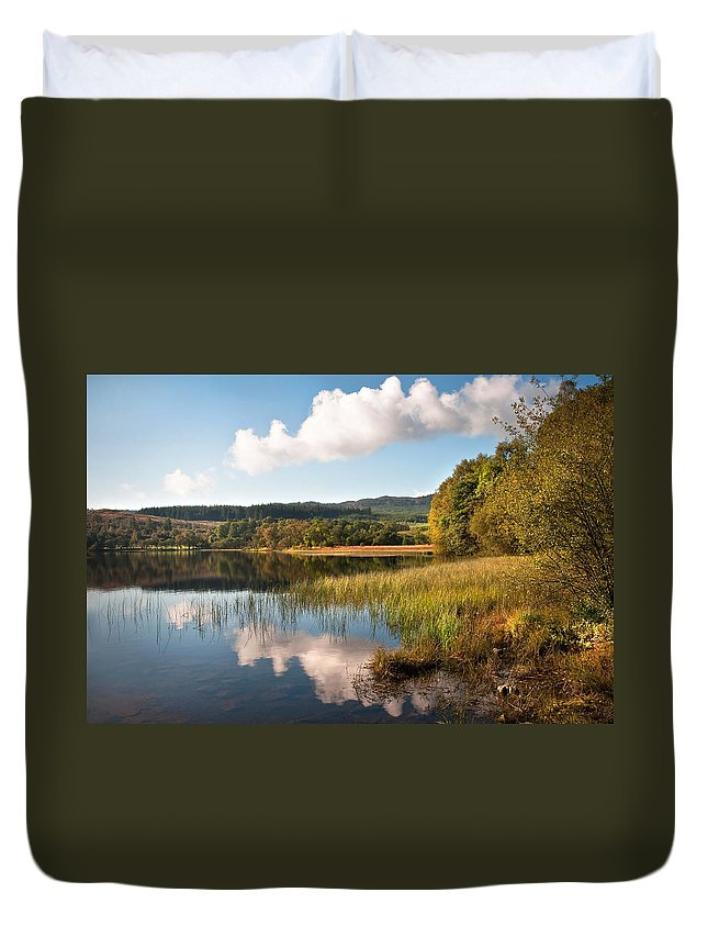 Scotland Duvet Cover featuring the photograph Loch Achray. Trossachs. Scotland by Jenny Rainbow