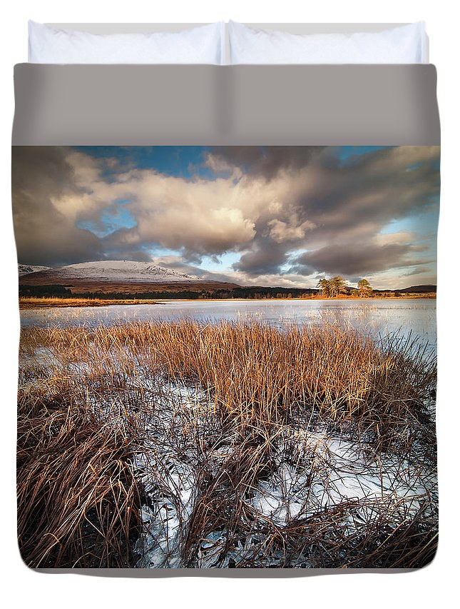 Tranquility Duvet Cover featuring the photograph Loch Tulla by Image By Peter Ribbeck