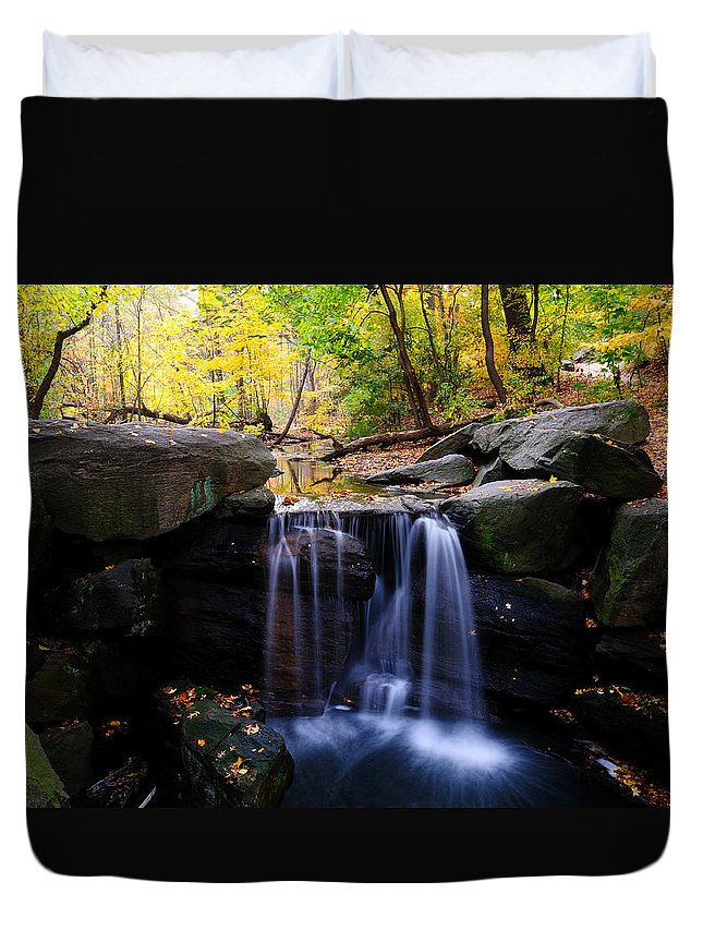 Loch Waterfall Duvet Cover featuring the photograph Loch Waterfall by Soon Ming Tsang