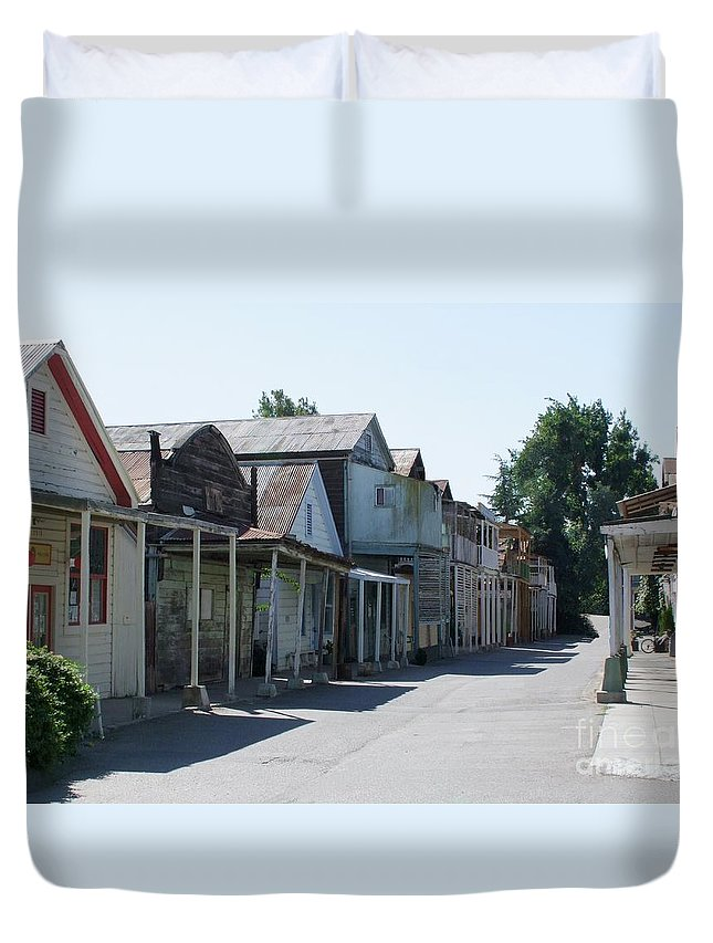Landscapes Duvet Cover featuring the photograph Locke Chinatown Series - Main Street - 1 by Mary Deal