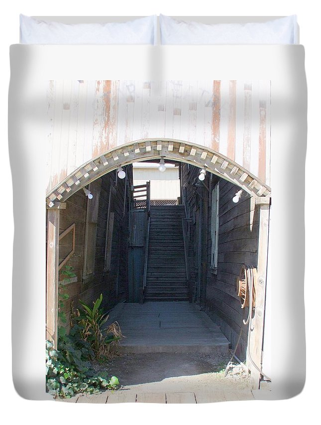 Buildings Duvet Cover featuring the photograph Locke Chinatown Series - Star Theatre - 2 by Mary Deal