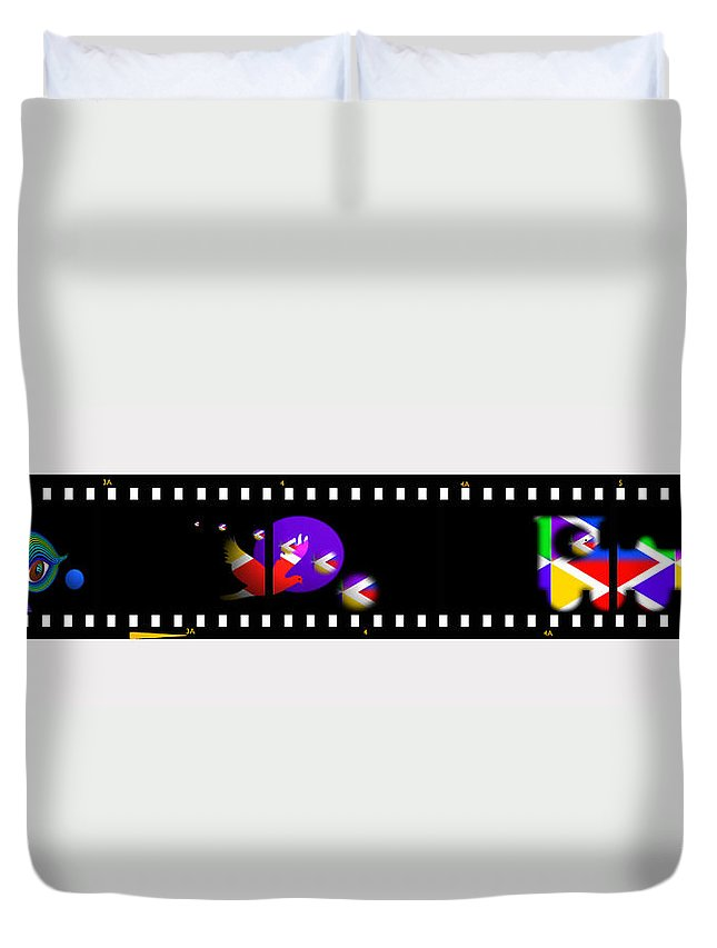 Contact Duvet Cover featuring the painting Loco by Charles Stuart