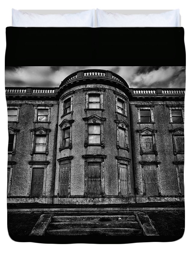 Loftus Hall Duvet Cover featuring the photograph Loftus Hall by Nigel R Bell