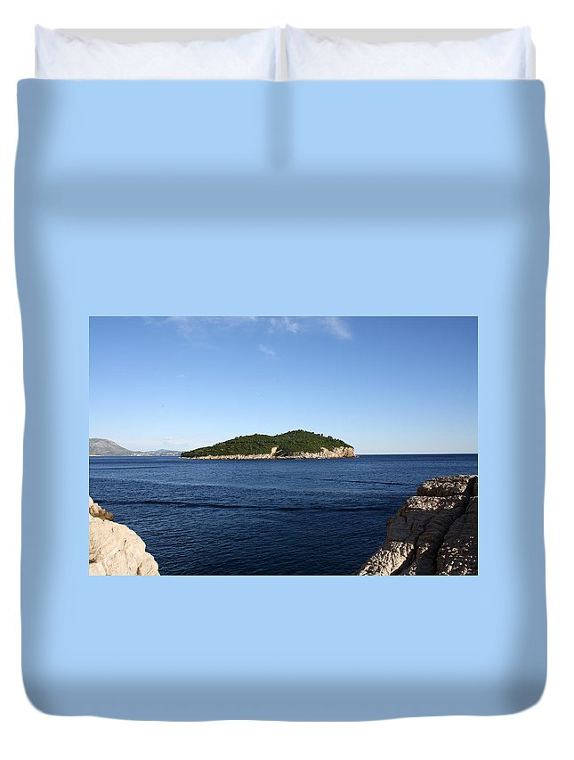 Dubrovnik Duvet Cover featuring the photograph Lokrum by David Nicholls