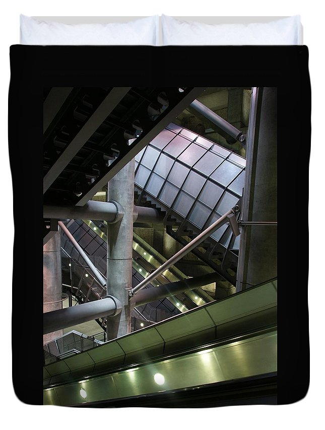 London Duvet Cover featuring the photograph London 2050 by Ron Harpham