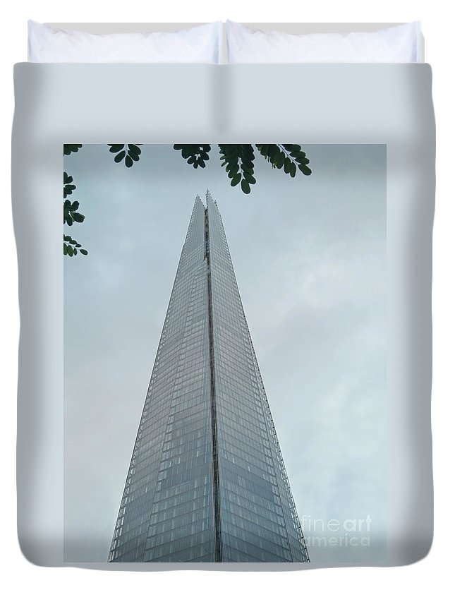 London Duvet Cover featuring the photograph London Shard by Ann Horn