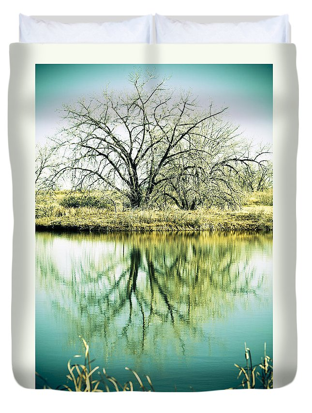 Lone Duvet Cover featuring the photograph Lone Tree 2 by Marilyn Hunt
