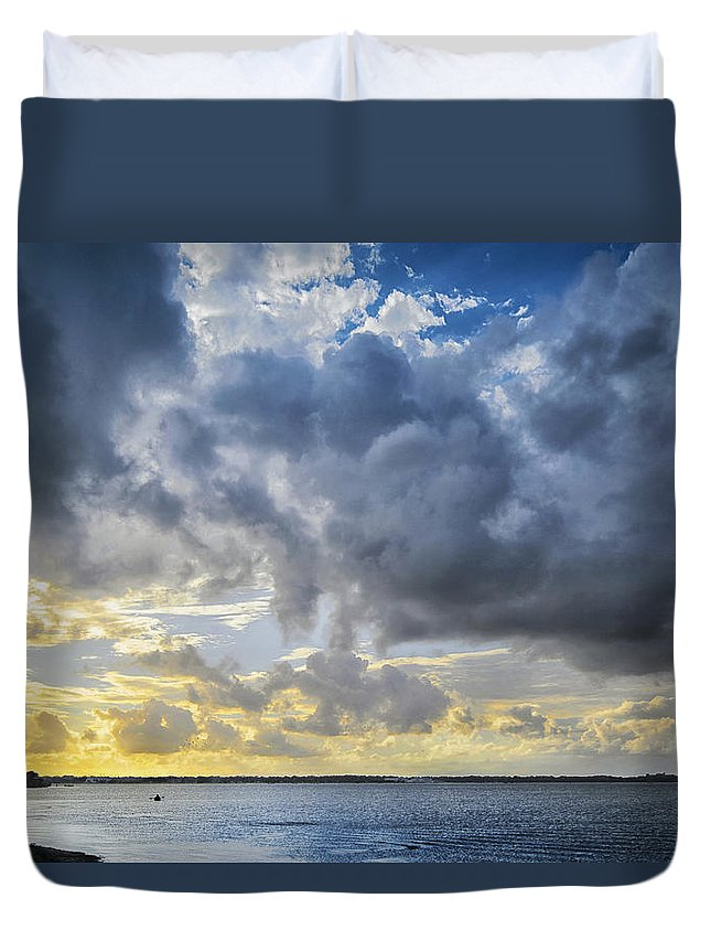 Kayak Duvet Cover featuring the photograph Lonely Kayak by Louise Hill