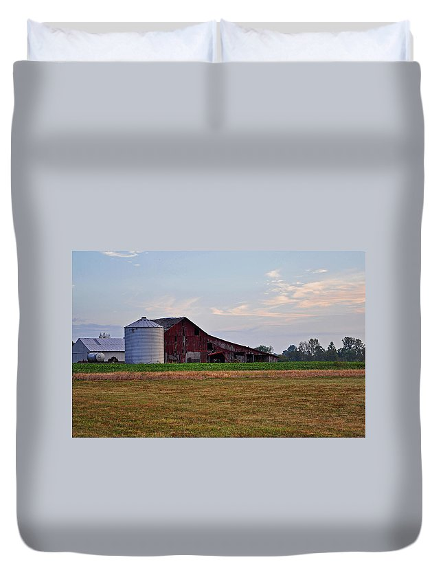 Barn Duvet Cover featuring the photograph Long Ago by Brittany Horton