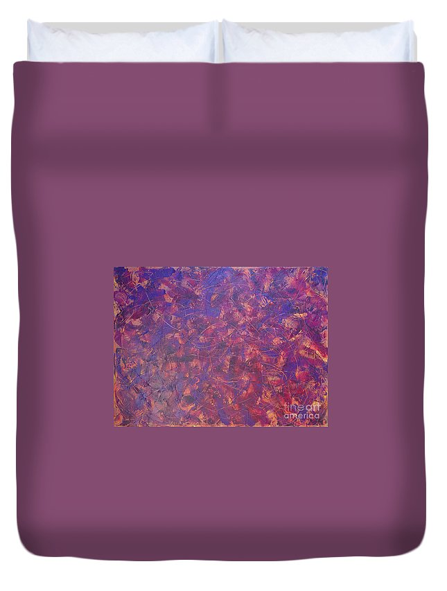 Abstract Duvet Cover featuring the painting Long Beach 5am by Dean Triolo