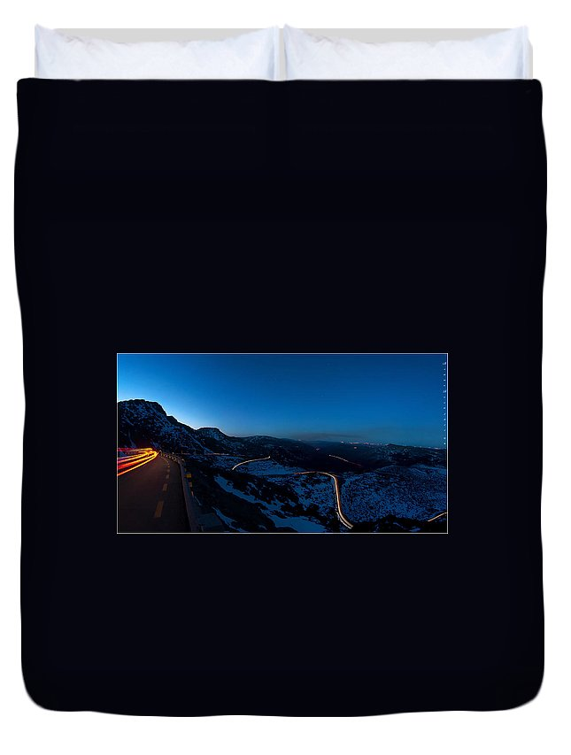 Landscape Duvet Cover featuring the photograph Long Exposure In Serra Da Estrela Portugal by Bruno Rosa