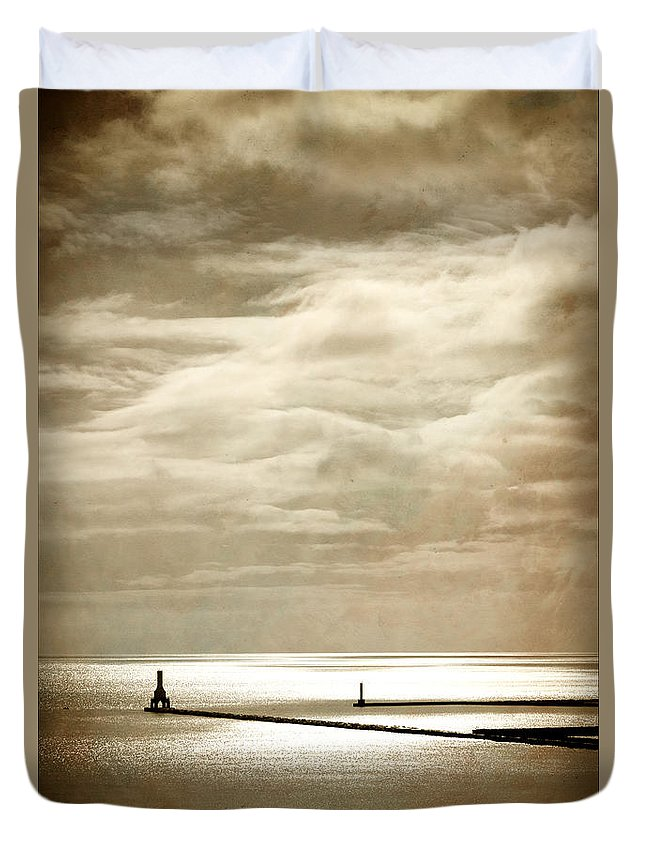 Lighthouse Duvet Cover featuring the photograph Look Closely by James Meyer