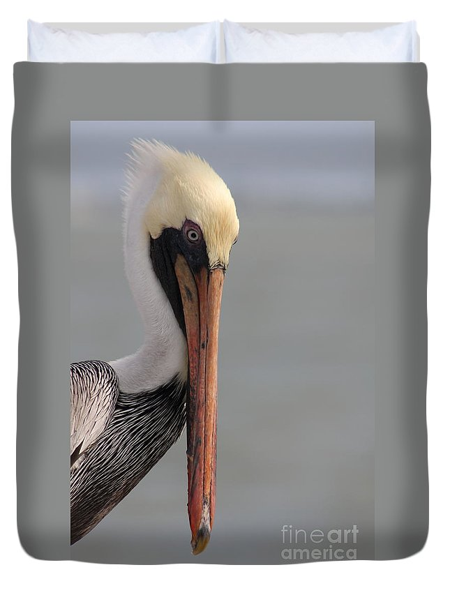 Pelican Duvet Cover featuring the photograph Look Into My Eyes by Christiane Schulze Art And Photography