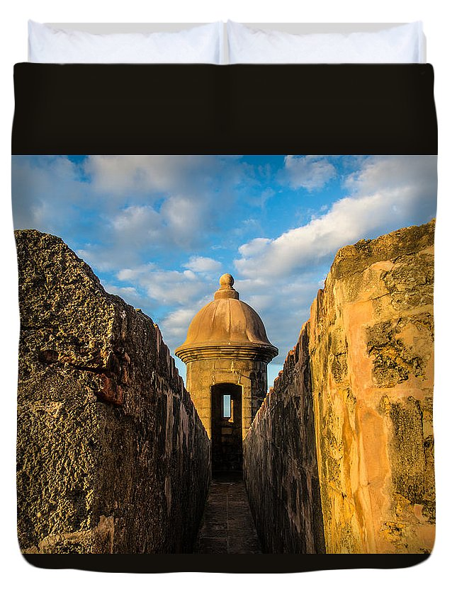 Puerto Rico Duvet Cover featuring the photograph Look Out by Kristopher Schoenleber