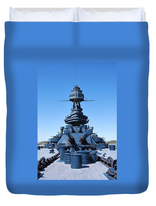 Gun Duvet Cover featuring the photograph Looking Down The Barrel by Richard Booth
