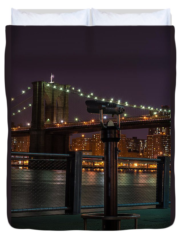Brooklyn Duvet Cover featuring the photograph Looking Out by Scott Wyatt