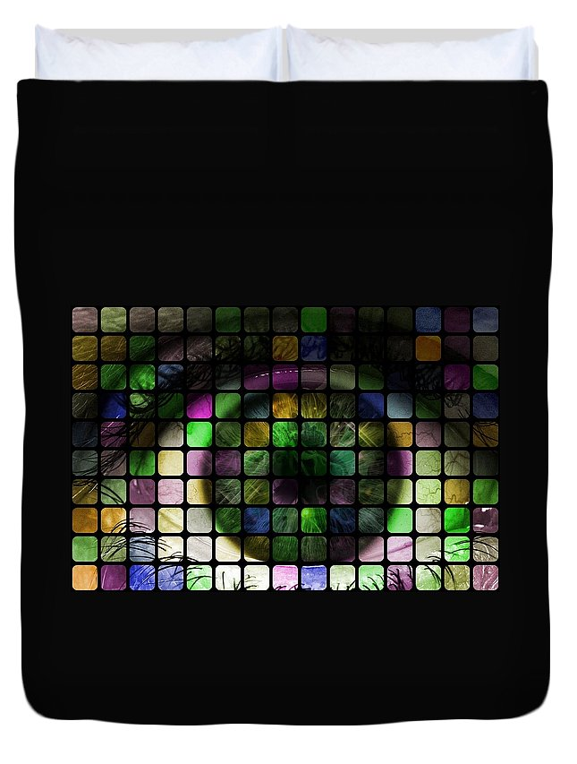 Eye Duvet Cover featuring the photograph Looking Past The Stars by Florian Rodarte