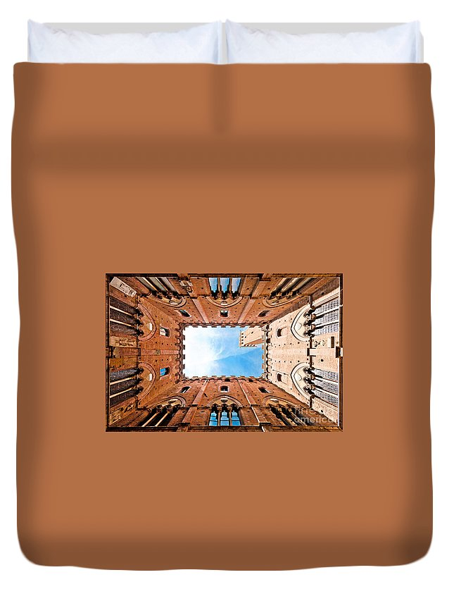 Abstract Duvet Cover featuring the photograph Siena by JR Photography