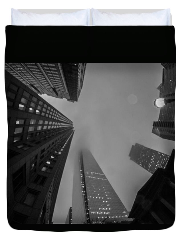 Buildings Duvet Cover featuring the photograph Looking Up by Kathleen Odenthal