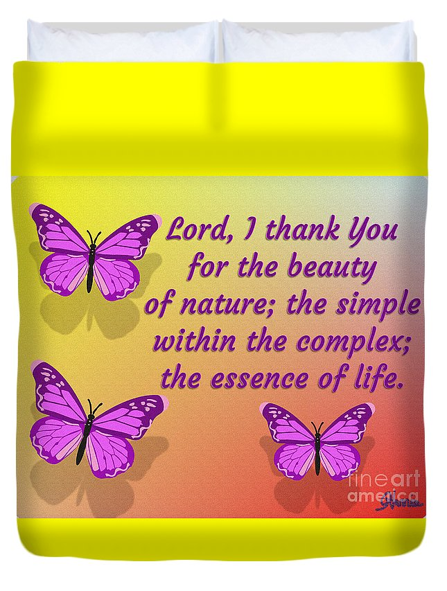 Lord I Thank You For The Beauty Of Nature Duvet Cover featuring the digital art Lord I Thank You for the Beauty of Nature by Pharris Art