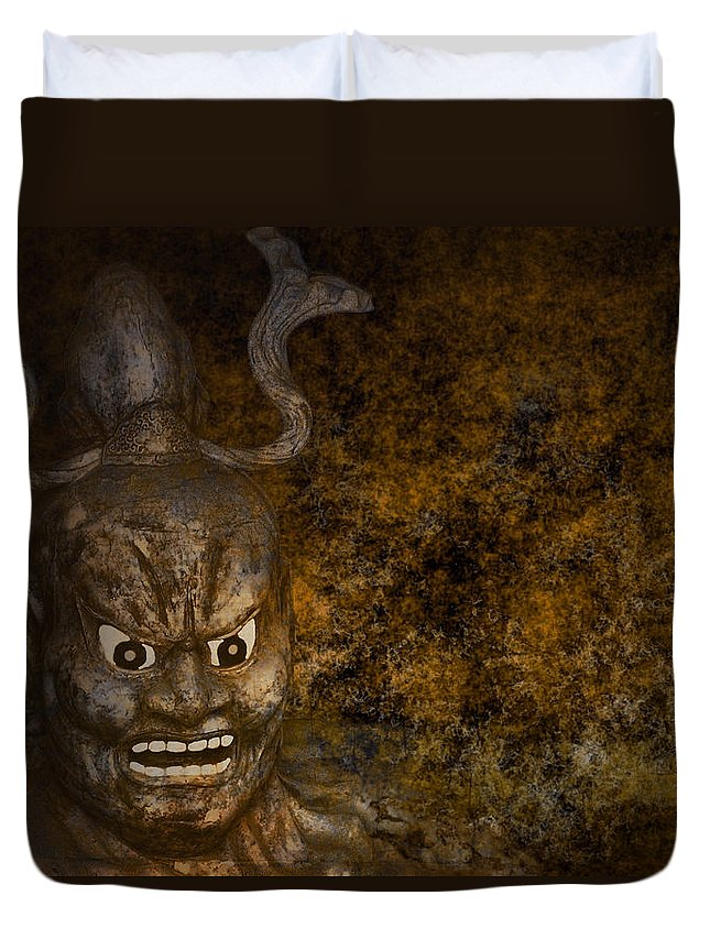 Lord Duvet Cover featuring the digital art Lord Of The Netherworld by Daniel Hagerman