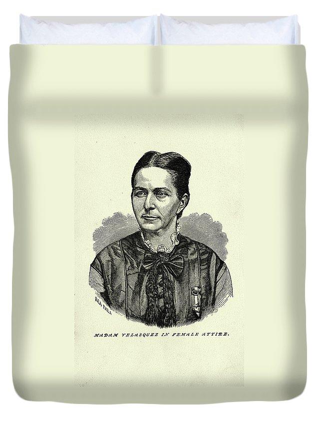 1870 Duvet Cover featuring the painting Loreta Janeta Velazquez (1842-1897) by Granger