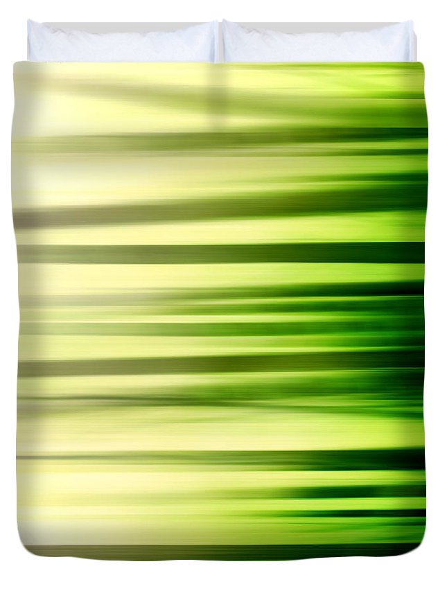 Abstract Duvet Cover featuring the photograph Lose Yourself Along The Way by K Hines