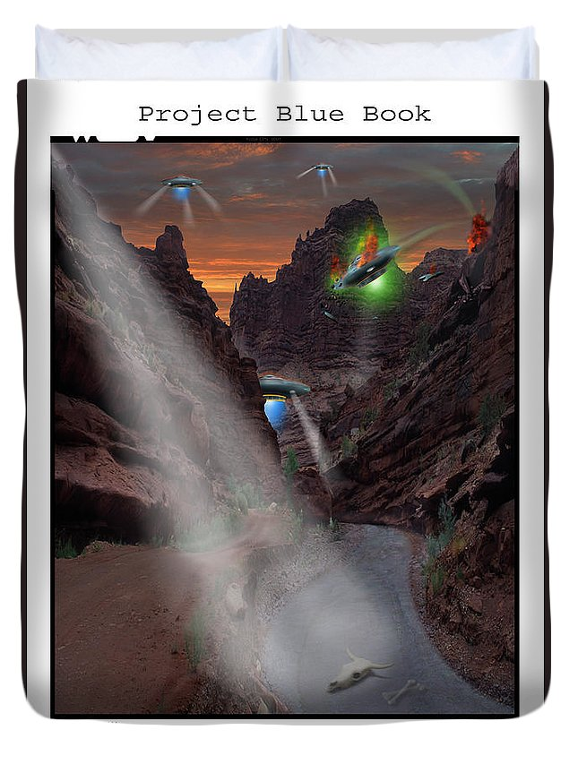 Ufo Crash Duvet Cover featuring the photograph Lost Film Number 2 by Mike McGlothlen