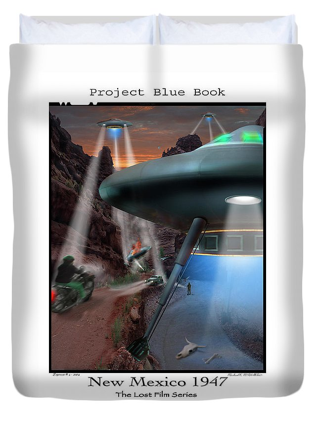 Ufo Duvet Cover featuring the photograph Lost Film Number 4 by Mike McGlothlen