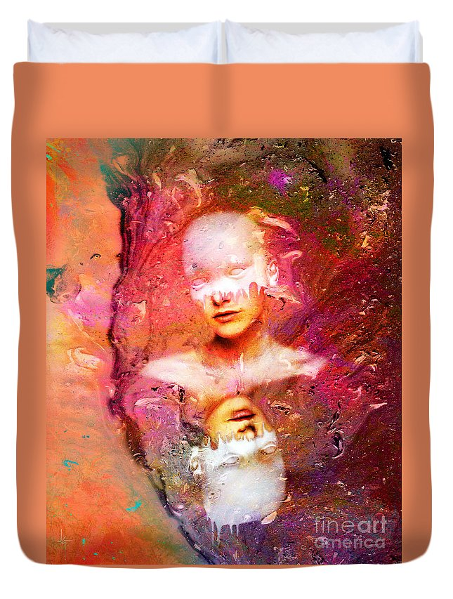 Art Duvet Cover featuring the painting Lost In Art by Jacky Gerritsen
