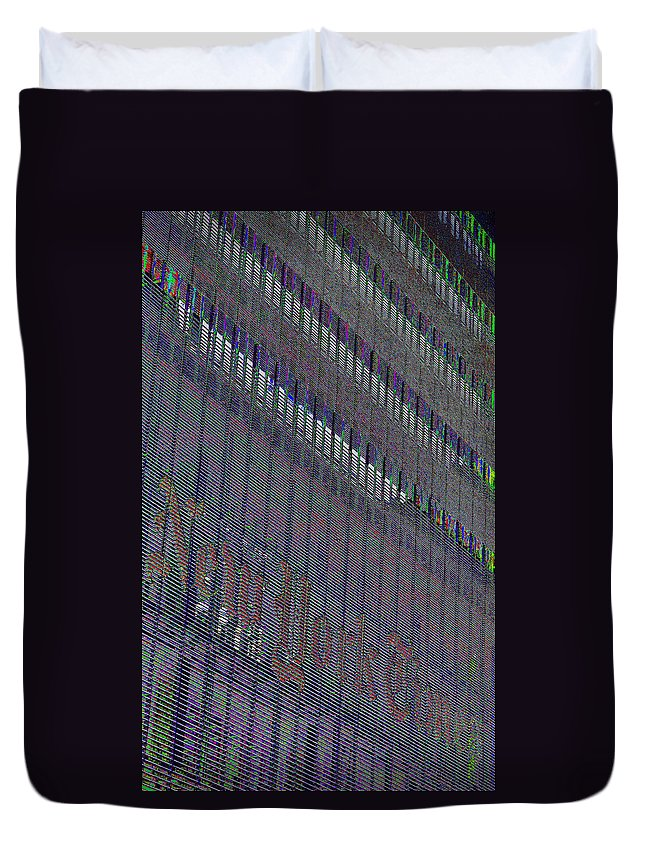 City Duvet Cover featuring the photograph Lost In Color by Art Dingo