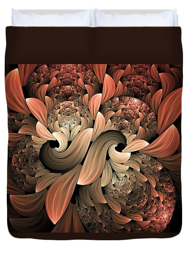 Abstract Duvet Cover featuring the digital art Lost In Dreams Abstract by Georgiana Romanovna