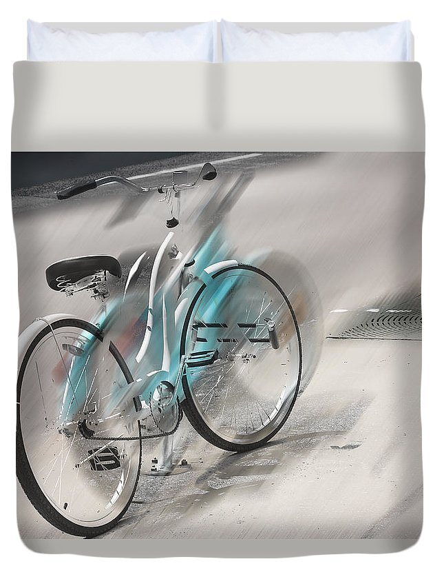 Bike Duvet Cover featuring the photograph Lost Picnic Basket by The Artist Project