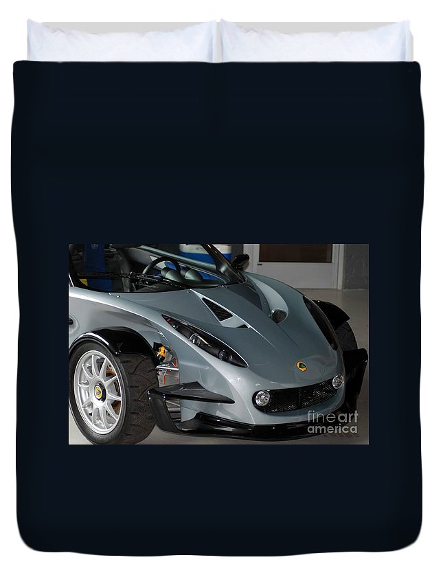 Euro Cars Duvet Cover featuring the photograph Lotus by Optical Playground By MP Ray