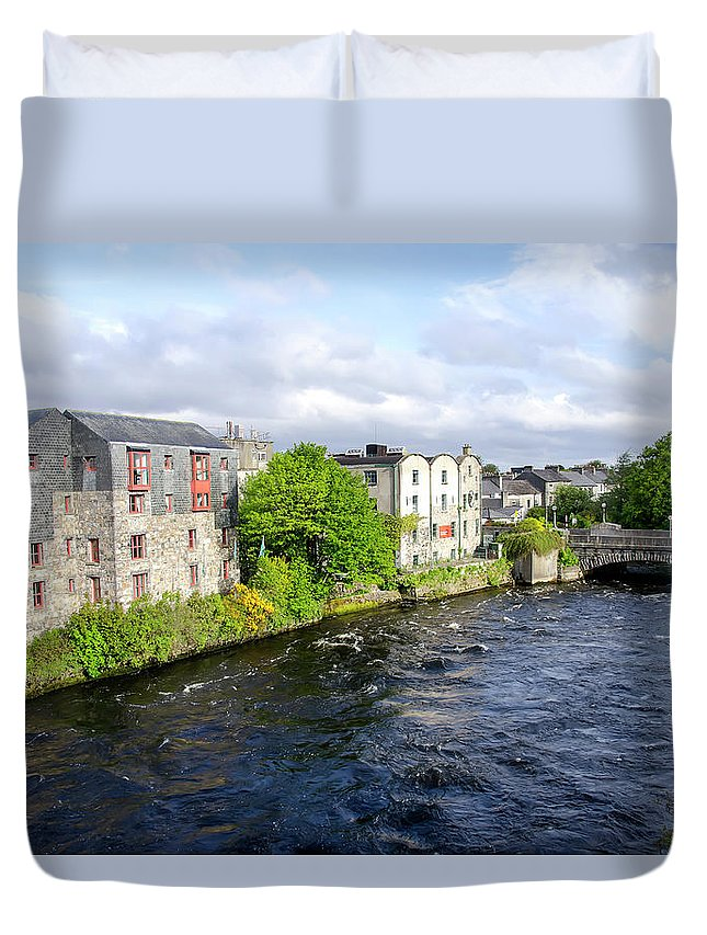 Tranquility Duvet Cover featuring the photograph Lough Corrib Galway City Ireland by M Timothy O'keefe