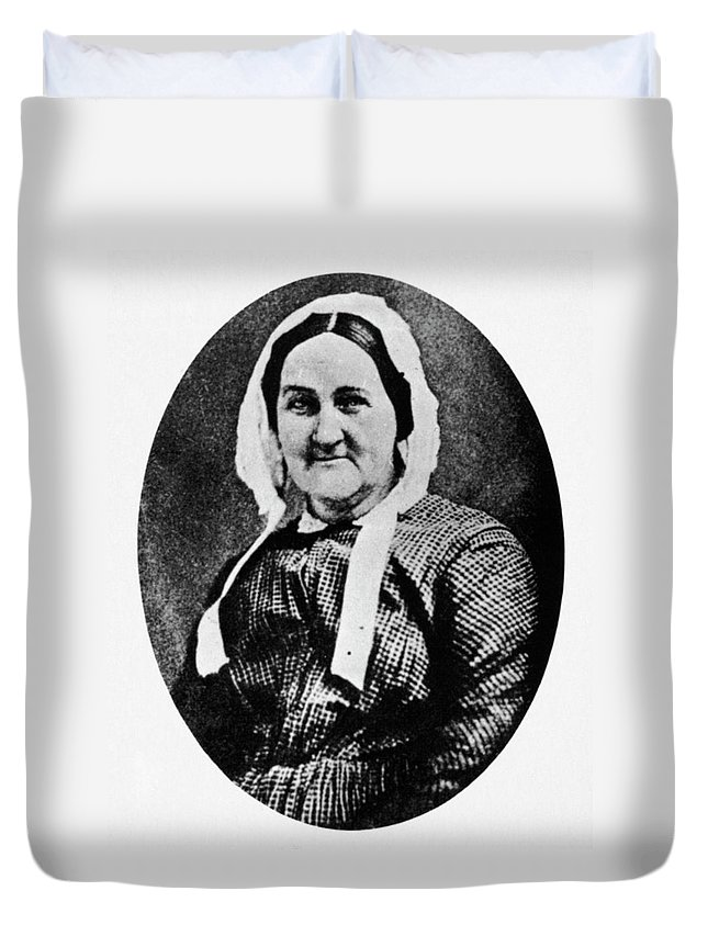 19th Century Duvet Cover featuring the photograph Louisa Whitman (d by Granger