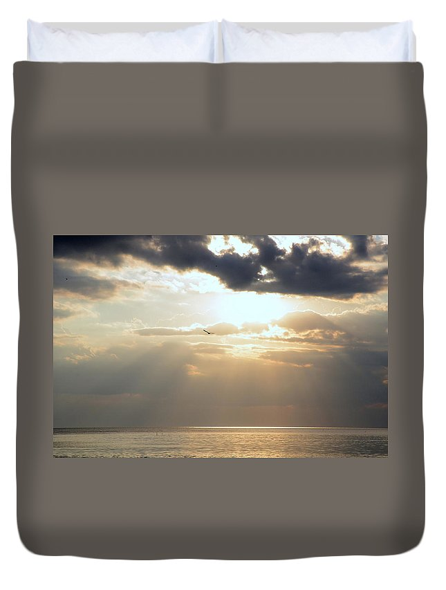 Waterscape Duvet Cover featuring the photograph Louisiana Gold by Charlotte Schafer