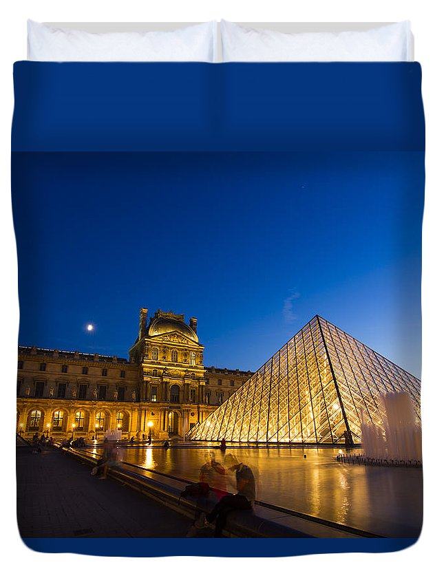Ancient Duvet Cover featuring the photograph Louvre by Mircea Costina Photography