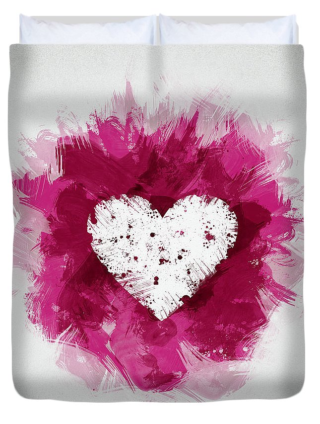 Beautiful Duvet Cover featuring the digital art Love by Aged Pixel