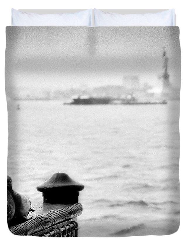 Duvet Cover featuring the photograph Love Birds by Eric Ferrar