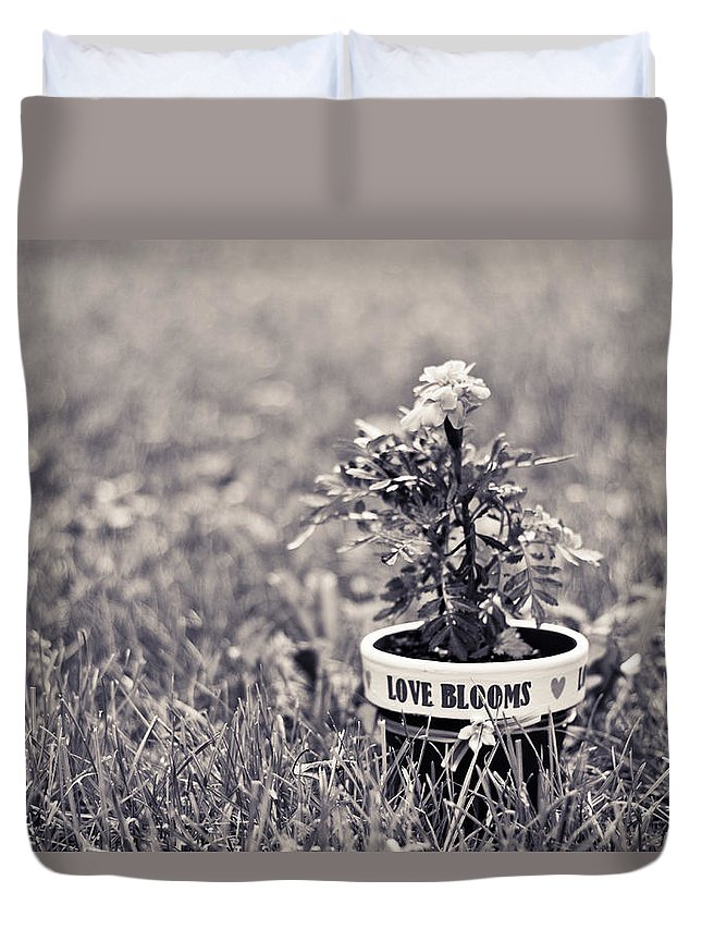 Love Duvet Cover featuring the photograph Love Blooms by Sara Frank