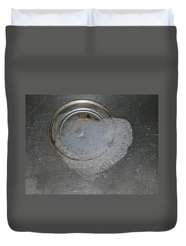 Heart Duvet Cover featuring the photograph Love Down The Drain by Nicole Colella