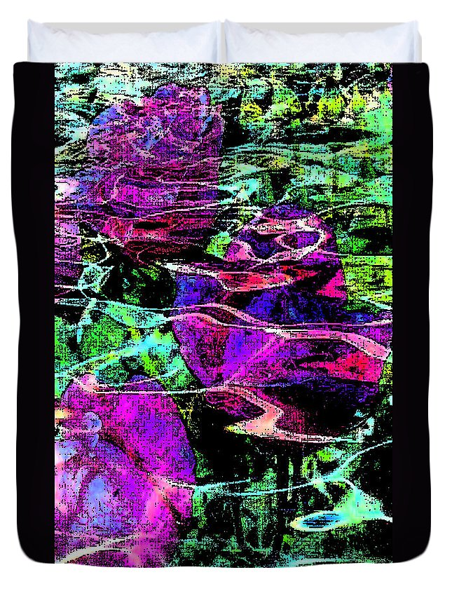 Digital Art Abstract Duvet Cover featuring the digital art Love Ever Gives by Yael VanGruber