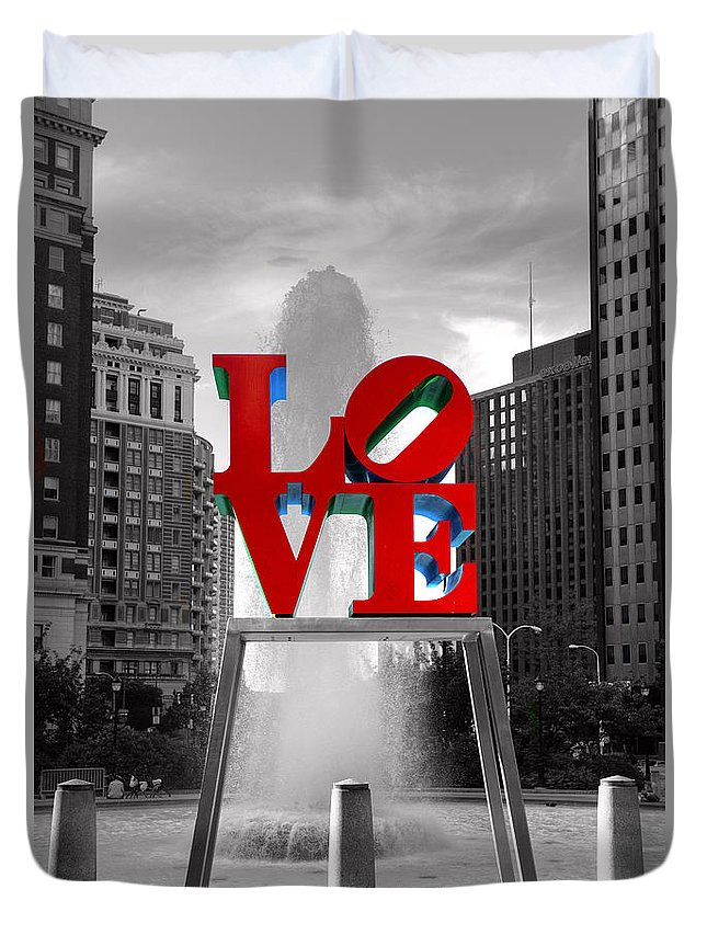 Paul Ward Duvet Cover featuring the photograph Love isn't always black and white by Paul Ward