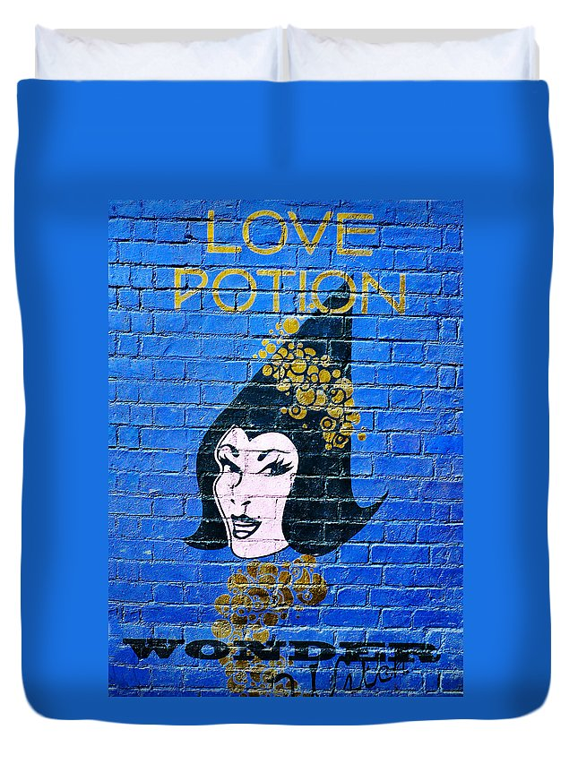 Love Potion Duvet Cover featuring the photograph Love Potion Diagon Alley by David Lee Thompson