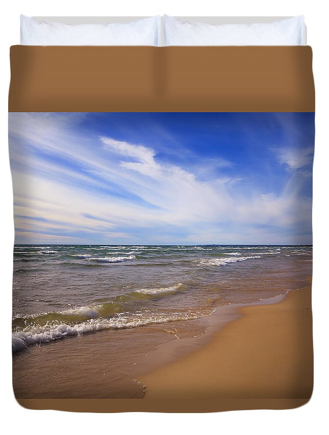 Lovely Day Duvet Cover featuring the photograph Lovely Day by Rachel Cohen