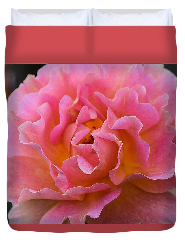Flowers Duvet Cover featuring the photograph Lovely In Pink by Mary Hahn Ward
