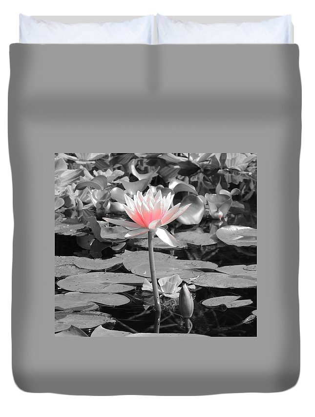 Lily Duvet Cover featuring the photograph Lovely Lily by Natasha Anderson