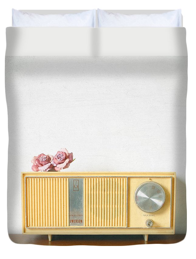 Radio Photograph Duvet Cover featuring the photograph Lovesick by Cassia Beck
