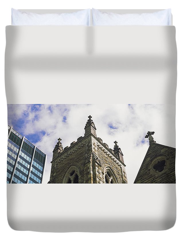 Photography Duvet Cover featuring the photograph Low Angle View Of A Church, Trinity by Panoramic Images